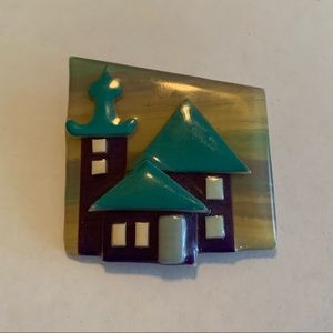 Vintage House Pin By Lucinda Brooch